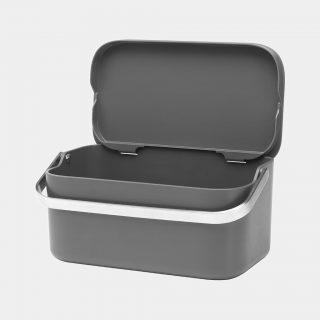 recipiente para desperdícios caddy cinza escuro brabantia