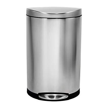 balde lixo semi redondo 30 lts fpp simplehuman