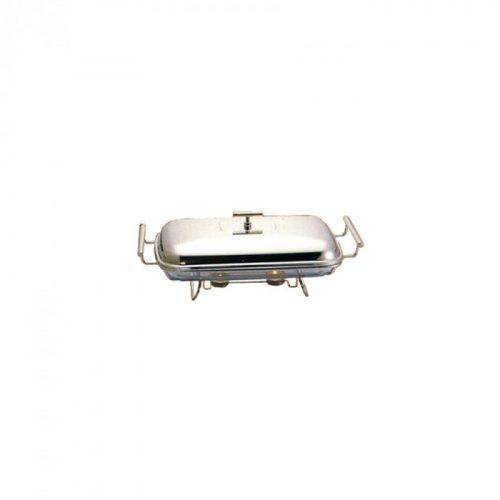 assadeira retangular com suporte de aquecimento 3 lts e tampa inox