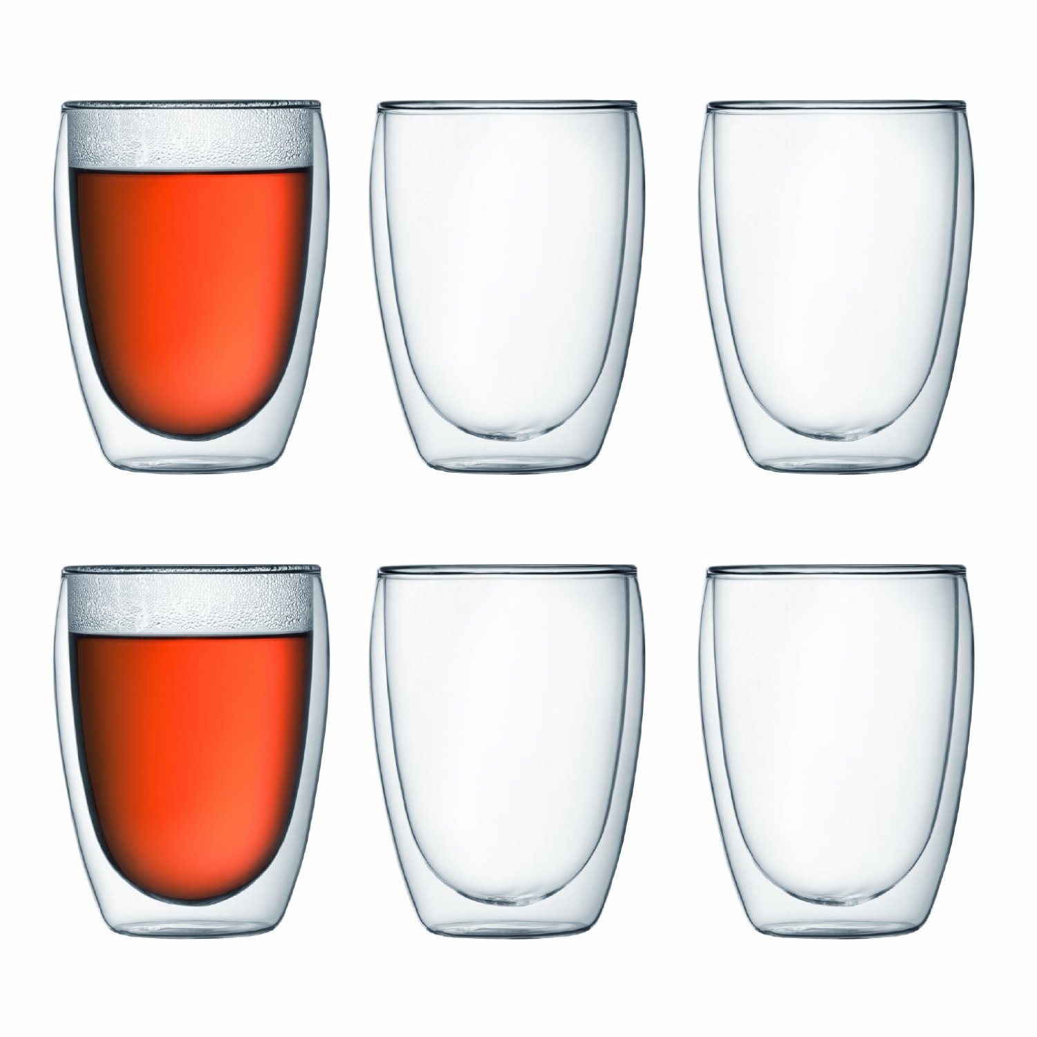6 x PAVINA DOUBLE WALL GLASS, 25 cl BODUM