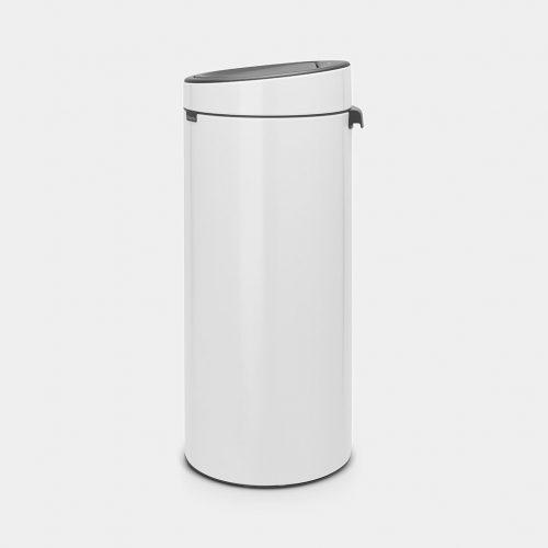 balde do lixo touch bin branco 30 litros brabantia
