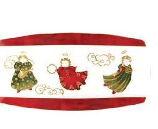 PRATO DE TORTA 38 x 19 cm ANJO GOLD CHRISTMAS SPAL
