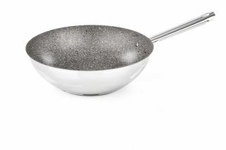 frigideira wok 28 cm rocciosa pro-steel barazzoni