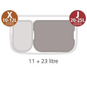 balde do lixo bo touch bin 11+23 lts brabantia