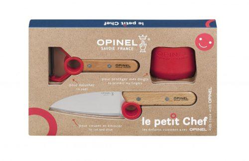 conjunto 3 peças le petit chef opinel