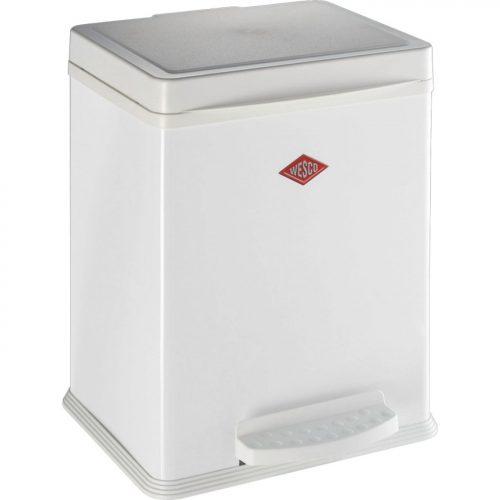 balde lixo pedal 380 2*10 ou 20 lts branco wesco