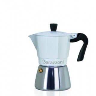 cafeteira branca ibrida la caffettiera barazzoni