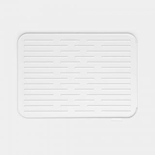 tapete escorredor silicone cinza claro para louça brabantia