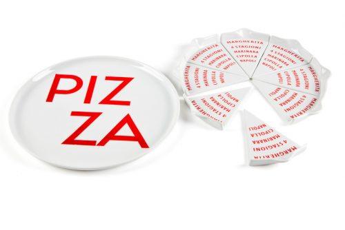 conjunto 8 peças pizza com prato forno evviva