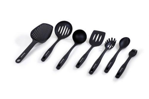 conjunto 7 peças cozinha nylon/silicone barazzoni