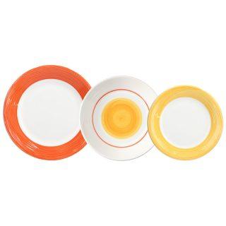 serviço mesa 18 peças virginia orange tognana