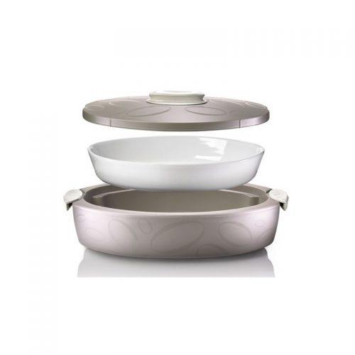 contentor térmico com assadeira porcelana enjoy