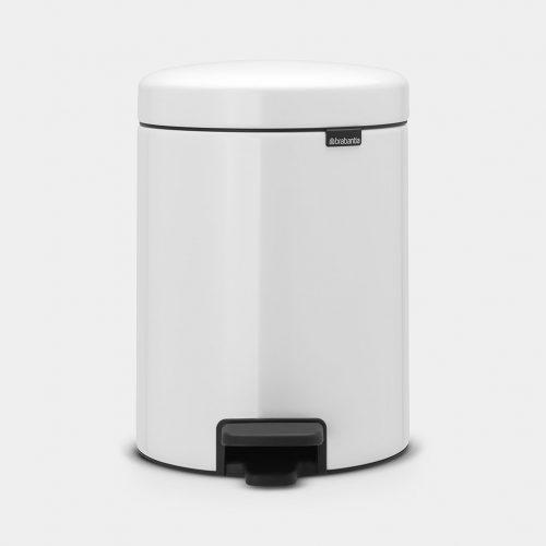 balde lixo 5 lts branco new icon brabantia