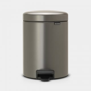 balde lixo 5 lts platina new icon brabantia