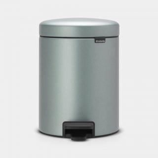 balde lixo 5 lts menta metálico new icon brabantia