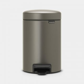balde lixo 3 lts platina new icon brabantia