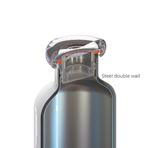 garrafa térmica inox 500 cc guzzini