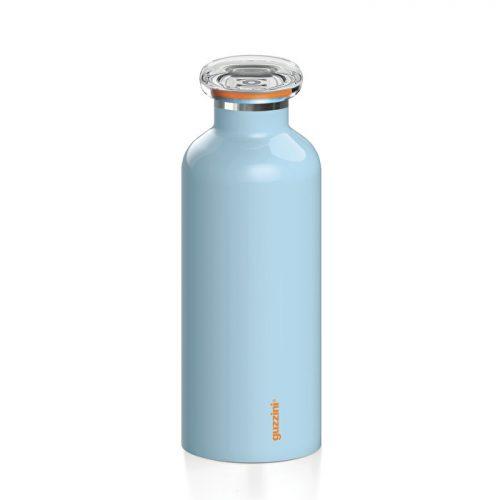 garrafa térmica inox 500 cc azul celeste mate guzzini