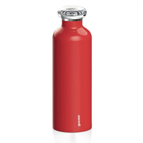 garrafa térmica inox 750 cc vermelha guzzini
