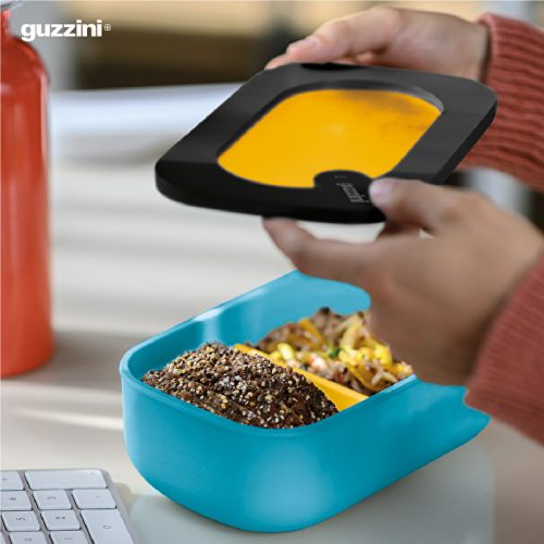conjunto lunch box com kit talheres guzzini