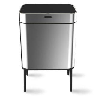 balde lixo aço mate 60 lts com sensor wd