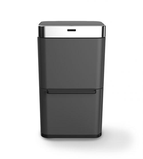 balde lixo preto mate 80 lts com sensor wd