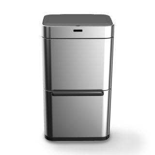 balde lixo aço mate 80 lts com sensor wd