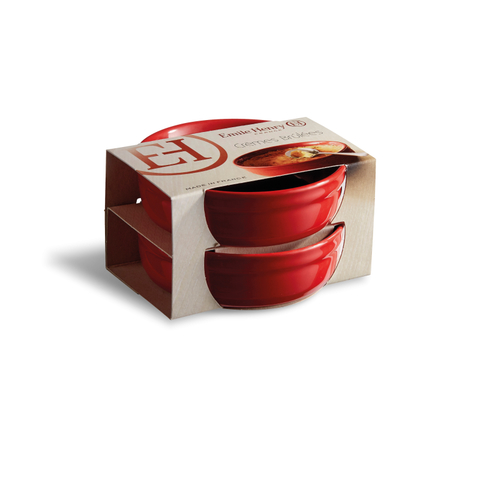 conjunto 2 pratos crème brulée 13 cm emile henry
