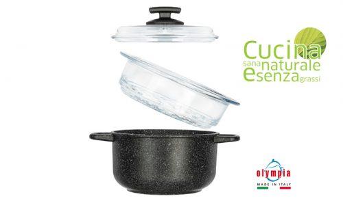 set caçarola vapor 20 cm cook induction olympia