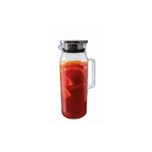 jarro vidro com pega 1,5 lts inox com filtro vin bouquet