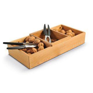 caixa com 3 divisões em carvalho wd
