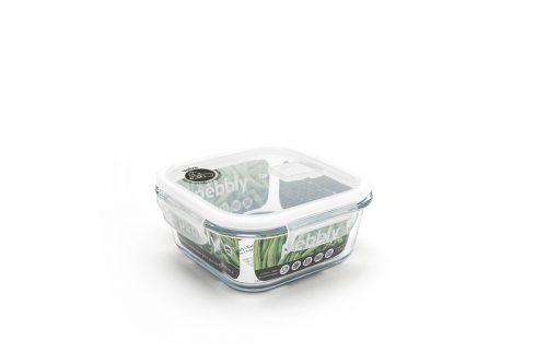 caixa vidro quadrada para alimentos pebbly