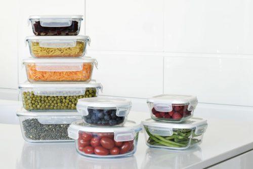 caixa vidro para alimentos pebbly