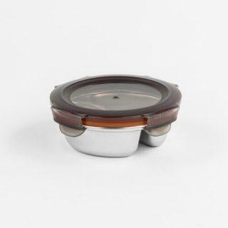 caixa redonda para alimentos com 2 divisões cuitisan