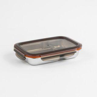 caixa retangular para alimentos com 3 divisões cuitisan
