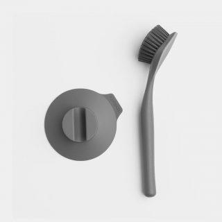 escova de loiça cinza escuro com base brabantia