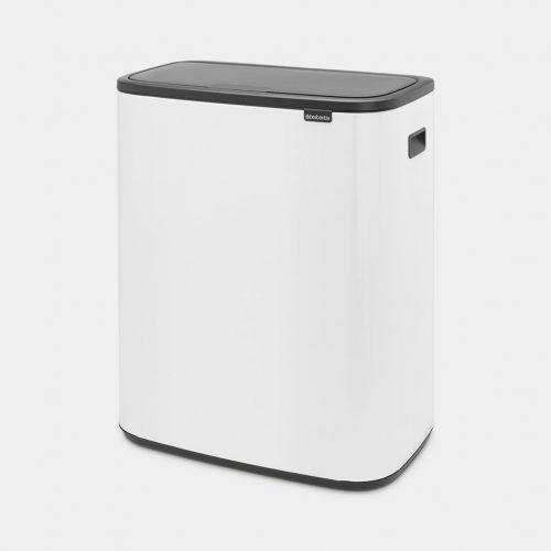 balde lixo bo touch bin 2*30 lts branco brabantia