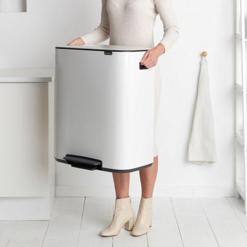 balde lixo pedal bo 2*30 lts branco brabantia