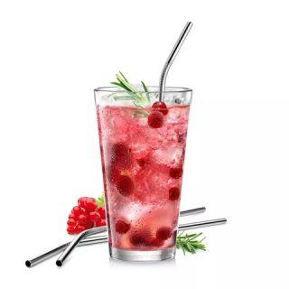 MY DRINK CJ 4 PALHAS INOX COM ESCOVA DE LIMPEZA TESCOMA